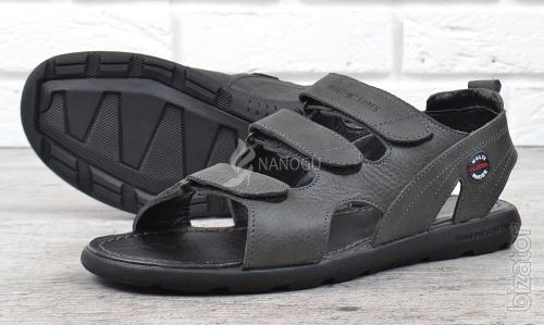 Sandals Drive mens leather Velcro made in Ukraine 2 colors