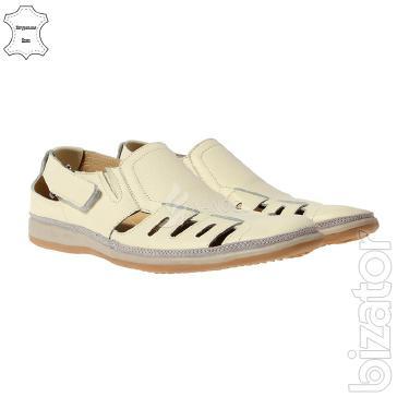 Men's shoes summer leather 4Rest USA Velcro 2 colors