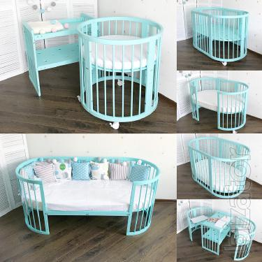 Round Cribs transformers DREAMER of solid beech.