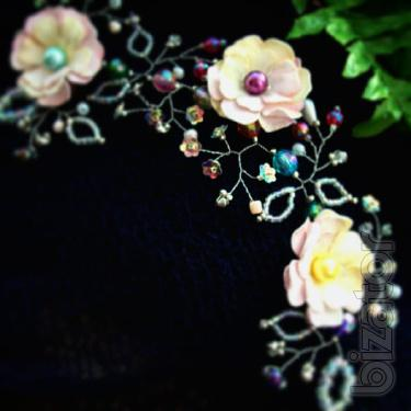 """rainbow fairy""is a decoration in the hair-hair Hoop for girls"