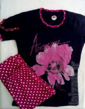 Women summer pajamas sets for home