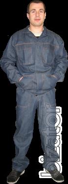 Suit model denim overalls workwear overalls