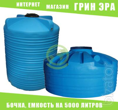 Plastic capacity of 5000 liters, a barrel, tank