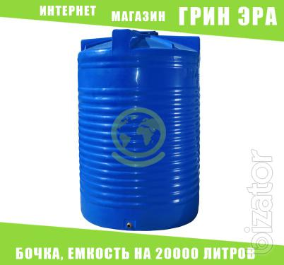 Tank plastic, capacity 200,000 litres, container, tank