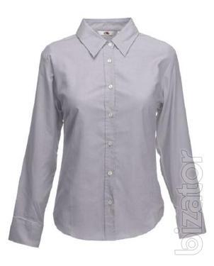 Women's shirt long sleeve Fruit Of The Loom 70% cotton
