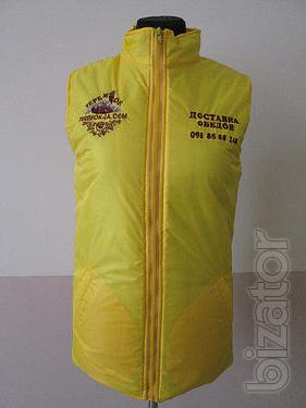 Vest insulated 'storage facility' color cornflower