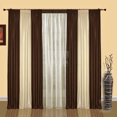 A set of ready-made curtains