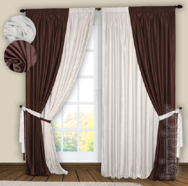a ready-made set of curtains