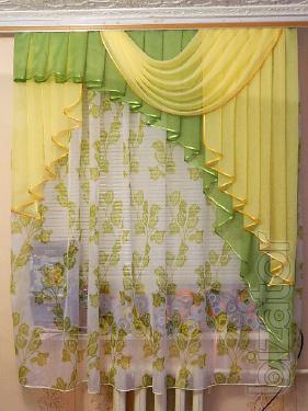 The curtain is made of chiffon
