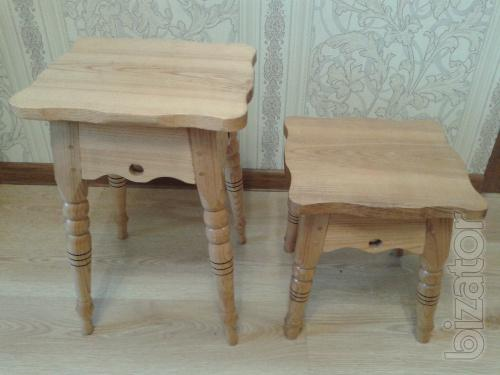 Baby carved stools of 4pcs.