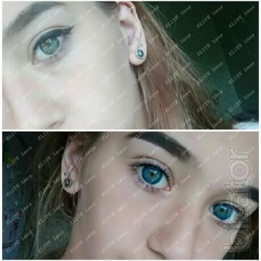 Sky blue colored lenses Ukraine