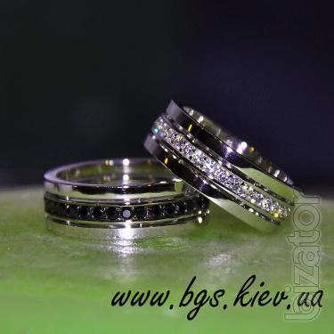 Wedding rings with black diamonds