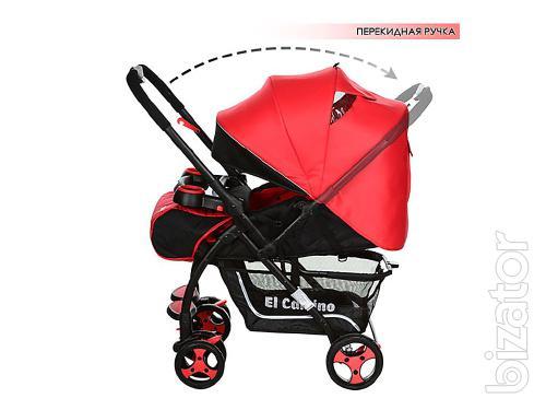 Stroller walking el camino drive owner, red-black
