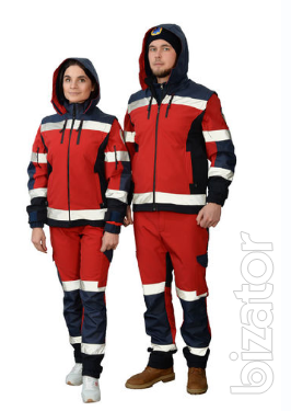 Suit ambulance men, Softshell fleece jacket