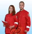 Suit ambulance, red, mens