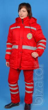 Winter jacket for ambulance, female, red