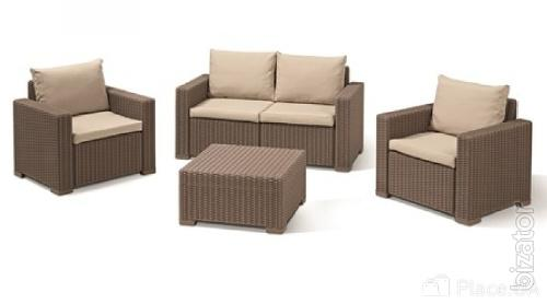 Set of furniture for streets