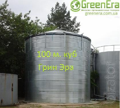 Tank 100 cubic meters for liquids, capacity 100 cubic meters.