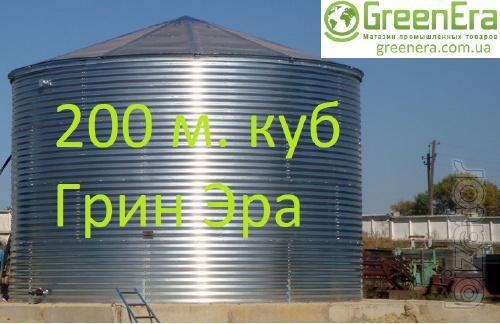 The reservoir of 200 cubic meters of liquid capacity 200 cubic meters.