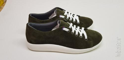 Shoes from the manufacturer sneakers suede and leather(2108-3)