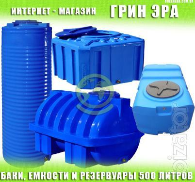 The water tank 500 liters plastic green Era