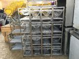 Shelf rack for drying plates and cups made of stainless steel