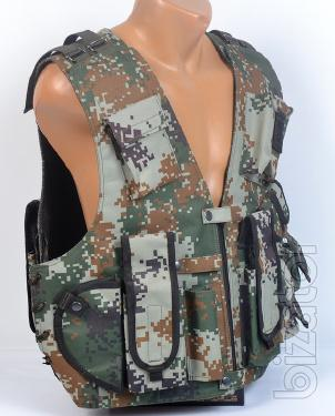 Tactical vest camouflage Pixel light