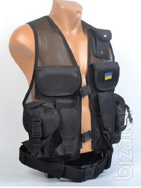 Lightweight tactical vest, black, mesh