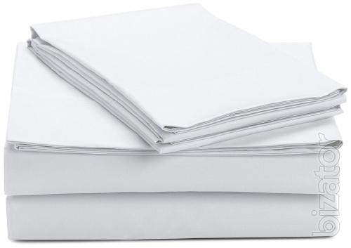 Bed sheets Queen-size, white, calico, 145х210, opt