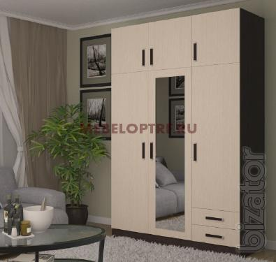 Wardrobe with hinged anterola and drawers