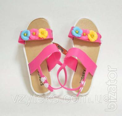Sandals for girls, assorted, wholesale, Vzuteks
