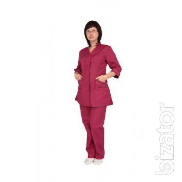 Women's costume elegant, stylish women's suit, suit for workers of medicine