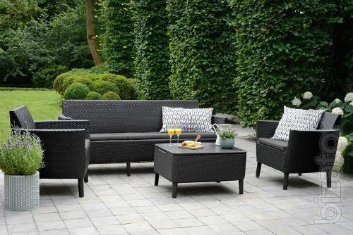 Herbert Duenas garden furniture 3 Seater Set rattan Allibert, Keter