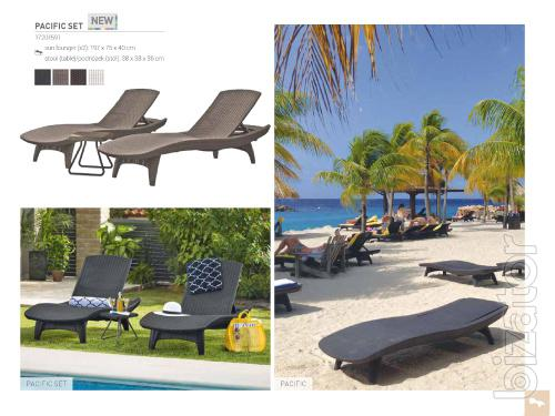 The Pacific Sun Lounger Set With Table
