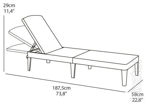 Jaipur Deck Chair Sun Lounger