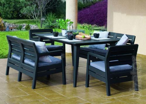 Garden furniture Set With Delano Lima Table artificial Allibert rattan, Keter
