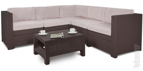 Outdoor furniture Provence Set With Coffee Table rattan Allibert,Keter