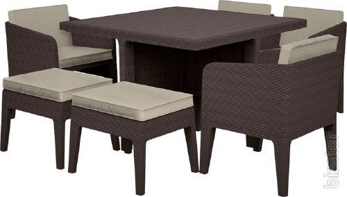 Outdoor furniture Columbia Dining Set 7 Pcs rattan Allibert, Keter