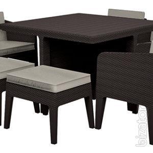 Outdoor furniture Columbia Dining Set 9 Pcs rattan Allibert, Keter