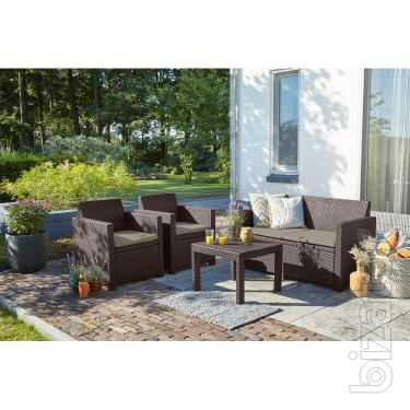 Alabama garden furniture Set rattan Allibert, Keter