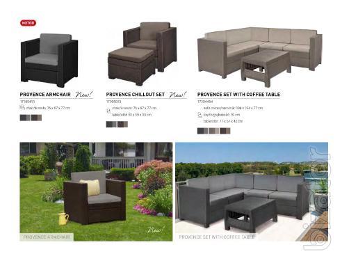 Garden furniture Provence Armchair rattan Allibert, Keter