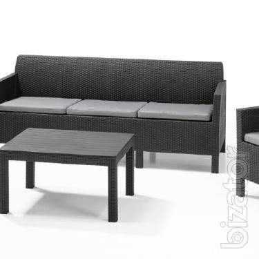 Orlando garden furniture Set 3 Seater Allibert rattan, Keter