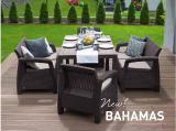 Garden furniture Bahamas Fiesta Set Allibert rattan, Keter