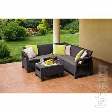 Bahamas outdoor furniture Relax Set Allibert rattan, Keter