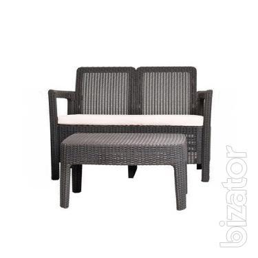 Garden furniture Tarifa Sofa With Table rattan Allibert, Keter