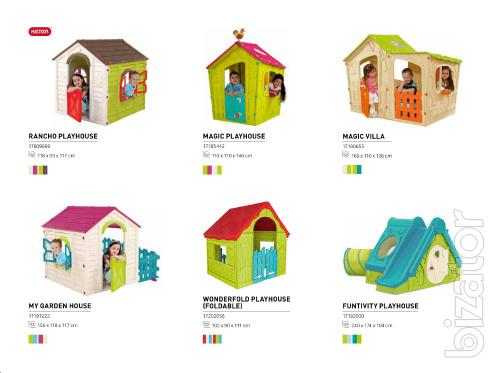 Play house with slide Funtivity Playhouse