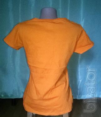 Orange t-shirt M womens 040
