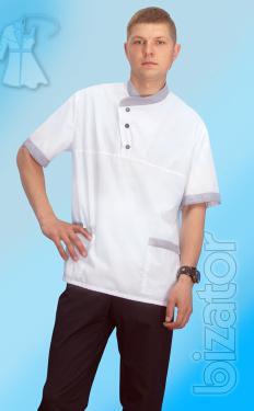 Chef's jacket short sleeve