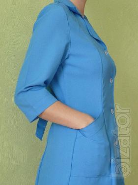 The working women's Bathrobe, Bathrobe for cleaners quarter sleeve