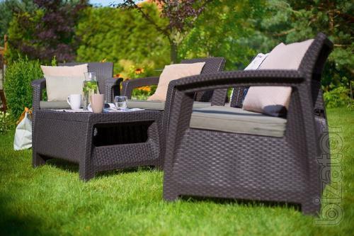 Garden furniture Set Corfu Quattro Allibert rattan, Keter
